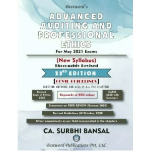 Bestword's Advanced Auditing and Professional Ethics for CA Final May 2021 Exam by CA Surbhi Bansal [New Syllabus]