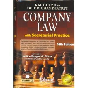 Bharat's Company Law with Secretarial Practice Volume - I [HB] by K.M. Ghosh & Dr. K.R. Chandratre