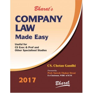 Bharat's Company Law Made Easy for CS Executive & Professional June 2017 Exam By CS. Chetan Gandhi