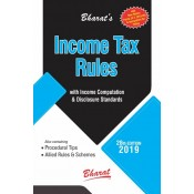 Bharat's Income Tax Rules with Return Forms, New ITR Forms & Instructions for A. Y. 2019-20