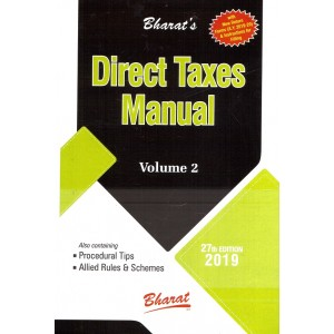 Bharat's Direct Taxes Manual [3 HB Volumes]