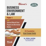 Bharat's Business Environment & Law [Paper 1] for CS Foundation [New Syllabus] by Dr. Vishal Saxena | Exam Cracker Series 2019