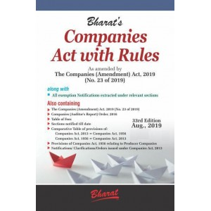 Bharat's Companies Act with Rules by Ravi Pulliani & Mahesh Pulliani
