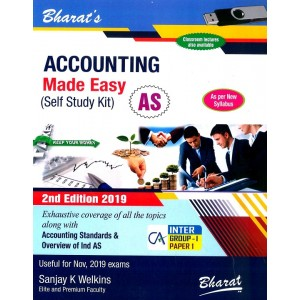 Bharat's Accounting Made Easy (Self Study Kit) for CA Inter Group I Paper 1 November 2019 Exam [New Syllabus] by Sanjay K Welkins
