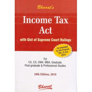 Bharat's Income Tax Act with Gist of Supreme Court Rulings [Pocket] by Ravi Puliani, Mahesh Puliani