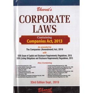 Bharat's Corporate Laws containing Companies Act, 2013 [Pocket - HB] by Ravi Puliani