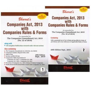 Bharat's Companies Act, 2013 with Companies Rules & Forms by Ravi Puliani & Mahesh Puliani [2 Vols.]