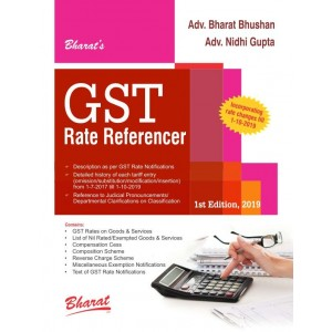Bharat's GST Rate Referencer by Adv. Bharat Bhushan, Adv. Nidhi Gupta