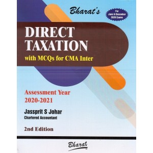 Bharat's Direct Taxation with MCQs for CMA Inter June 2020 Exam by CA. Jassprit S. Johar