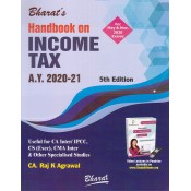 Bharat's Handbook on Income Tax for CA Inter [IPCC] May 2020 Exam [Old & New Syllabus] by CA. Raj K. Agrawal