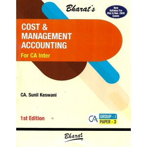 Bharat's Cost & Management Accounting for CA Inter May & Nov. 2020 Exam [New Syllabus] by CA. Sunil Keswani