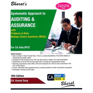 Bharat's Systematic Approach to Auditing & Assurance with Problems & Hints, MCQs for CA Inter/IPCC May 2020 Exam [Old & New Syllabus] by CA. Kamal Garg