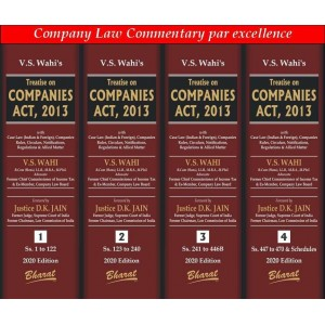 Bharat's Treatise on Companies Act, 2013 by V.S. Wahi [4 HB Volumes]