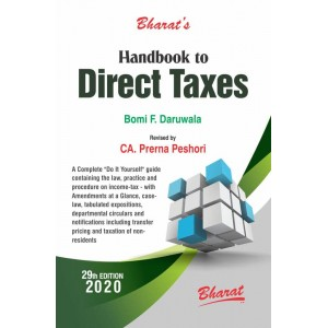 Bharat's Handbook to Direct Taxes 2020 by Bomi F. Daruwala & CA. Prerna Peshori