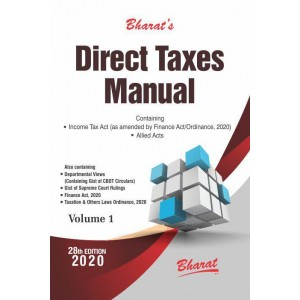 Bharat's Direct Taxes Manual 2020 [3 HB Volumes]