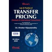 Bharat's Law & Practice Of Transfer Pricing (Domestic & International Transactions) by CA. Divakar Vijayasarathy