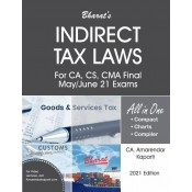 Bharat's Indirect Tax Laws for CA/CS/CMA Final May/June 2021 Exam [IDT] by Amarendar Kaparti