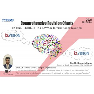 Bharat's Comprehensive Revisionary Charts on DIRECT TAX LAWS & INTERNATIONAL TAXATION for CA Final May 2021 Exam [Old & New Syllabus] by CA. Durgesh Singh
