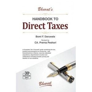 Bharat's Handbook to Direct Taxes 2021 by Bomi F. Daruwala & CA. Prerna Peshori