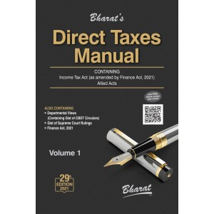 Bharat's Direct Taxes Manual 2021 [3 HB Volumes]