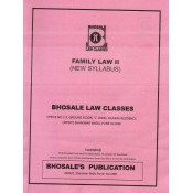 Bhosale Law Class's Family Law II for BA.LL.B & LL.B [New Syllabus] | Bhosale Publication