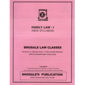 Bhosale Law Class's Family Law I for BA.LL.B & LL.B [New Syllabus] | Bhosale Publication