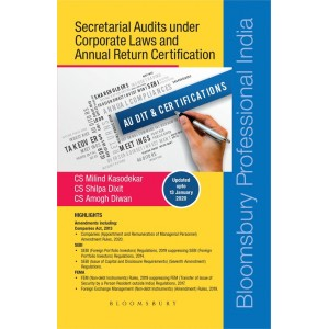 Bloomsbury's Secretarial Audits under Corporate Laws and Annual Return Certification by CS. Milind Kasodekar, CS. Shilpa Dixit, CS. Amogh Diwan