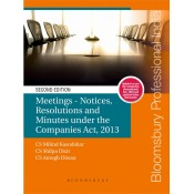 Bloomsbury's Meetings - Notices, Resolutions and Minutes Under the Companies Act, 2013 by CS Milind Kasodekar, CS Shilpa Dixit,  CS Amogh Diwan