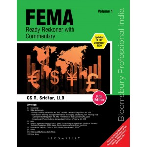 Bloomsbury's FEMA Ready Reckoner with Commentary 2021 by CS. R. Sridhar [2 Volumes]