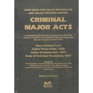 Book Corporation's Criminal Major Acts [HB] : Handbook for Police Officer, P. S. & Police Training Center [New Anti-Rape Law]