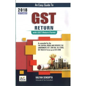 Book Corporation's An Easy Guide to GST Return with GST Return Forms by Kalyan Sengupta