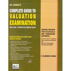 Book Corporation's Complete Guide to Valuation Examination 2018-19 by Dr. Rajkumar S. Adukia | Asset Class : Securities or Financial Assets
