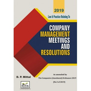 Book Corporation's Law & Practice relating to Company Management Meetings & Resolutions [HB] by D. P. Mittal