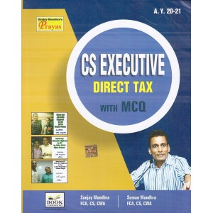 Book Corporation's Direct Tax with MCQs for CS Executive June 2020 Exam by CS. Sanjay Mundhra, CS. Suman Mundhra