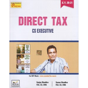 Book Corporation's Direct Tax for CS Executive June 2020 Exam by CS. Sanjay Mundhra, CS. Suman Mundhra