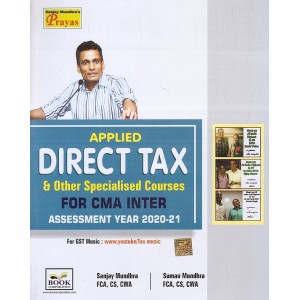 Book Corporation's Applied Direct Tax & Other Specialised Courses for CMA Inter 2020 Exam by Sanjay Mundhra & Suman Mundhra