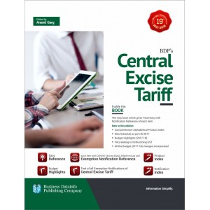 BDP's Central Excise Tariff Edited by Anand Garg