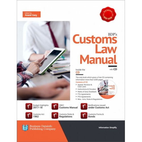 BDP's Customs Law Manual with CD by Anand Garg