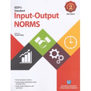 BDP's Standard Input-Output Norms [Vol.2] by Anand Garg