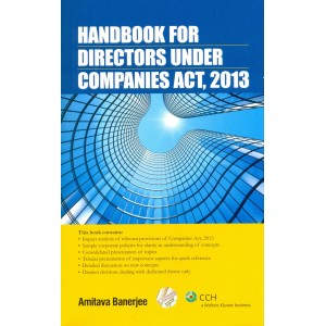 CCH's Handbook For Directors Under Companies Act, 2013 by Amitava Banerjee