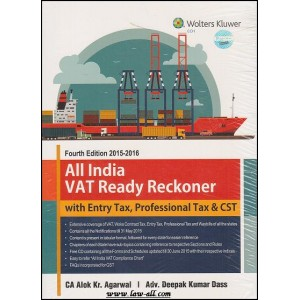 CCH Wolters Kluwer's All India VAT Ready Reckoner (with Entry Tax, Professional Tax & CST) by CA Alok Kr. Agarwal and Adv. Deepak Kumar Dass