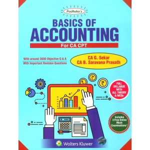 Padhuka's Basics of Accounting for CA CPT 2018 by CA. G Sekar and CA. B. Saravana Prasath | CCH Wolter Kluwer
