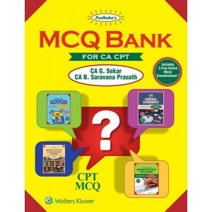 Padhuka's MCQ Bank For CA / CPT 2018 by CA. G. Sekar & CA. B. Sarvana Prasath, CCH Publications | Question Bank
