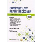 CCH's Company Law Ready Reckoner with Explanatory Notes by Ashish Makhija