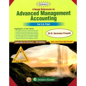 Padhuka's A Ready Referencer on Advanced Management Accounting [AMA] For CA Final Exam November 2019 Exam (Old Syllabus) by CA. B. Saravana Prasath