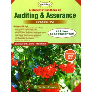 Padhuka's A Students Handbook on Auditing & Assurance for CA Inter [IPCC] November 2019 Exam [Old Syllabus] by CA. G. Sekar & CA B. Saravana Prasath