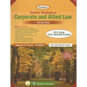Padhuka's Students Handbook on Corporate and Allied Law for CA Final November 2019 Exam [Old Syllabus] by G. Sekar| CCH Wolter Kluwer