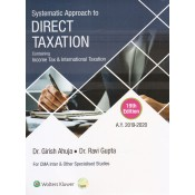 CCH's Systematic Approach to Direct Taxation for CMA Inter December 2019 Exam by Girish & Ravi Ahuja