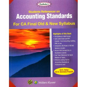 Padhuka's Students Referencer on Accounting Standards for CA Final November 2019 Exam [Old & New Syllabus] by CA G. Sekar, CA. B. Saravana Prasath