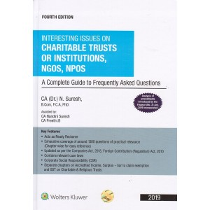 Wolters Kluwer's Interesting Issues on Charitable Trusts or Institutions, NGOS, NPOS by CA. (Dr.) N. Suresh